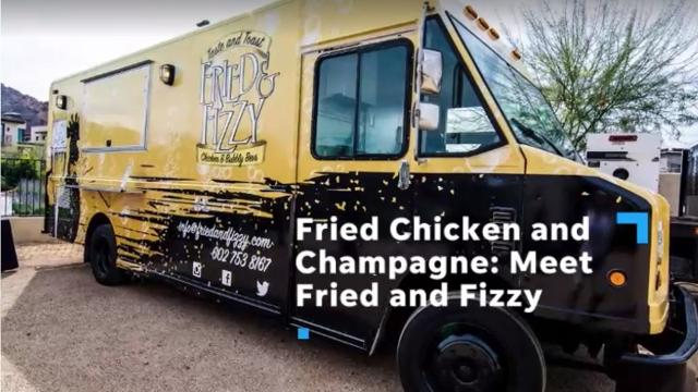 Fried & Fizzy food truck serves Southern-inspired combos of fried chicken and champagne.