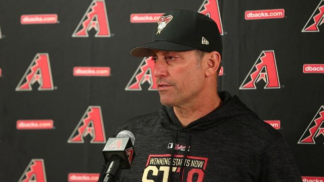 Arizona Diamondbacks manager Torey Lovullo talks about the starting pitchers, who's the closer and using a humidor.