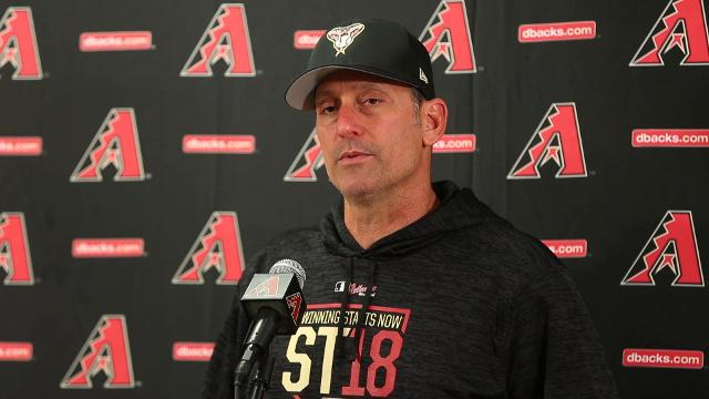 Arizona Diamondbacks manager Torey Lovullo reacts to the question about J.D. Martinez's future - and his past.