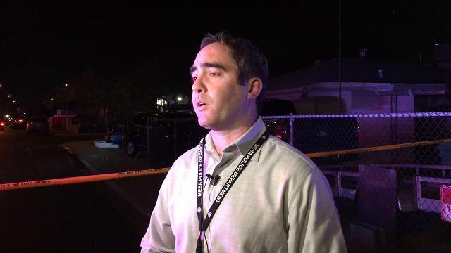 Detective Nikolas Rasheta, Mesa police spokesman, talks about the officer-involved shooting on Feb. 15, 2018. Nathan J. Fish/azcentral.com