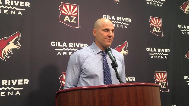Coyotes coach Rick Tocchet on a 5-2 win over the Canadiens