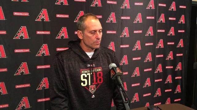 Diamondbacks manager Torey Lovullo talks about Zack Greinke's plan to prepare for the regular season and looks back on his performance last season.