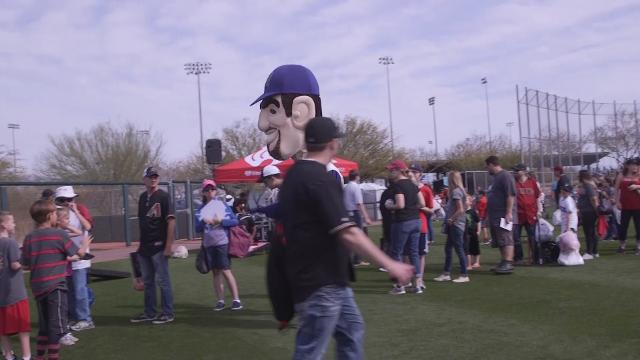 Fans get a chance to meet their favorite Arizona Diamondbacks players during the 14th Annual Fan Fest at Salt River Fields at Talking Stick in Scottsdale.