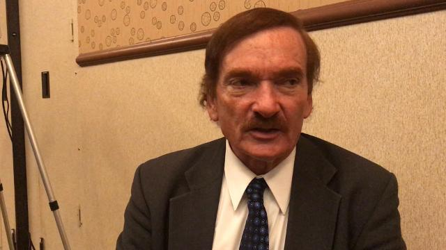 Travis Walton talks about his extraterrestrial encounter at the International UFO Congress on Feb. 17, 2018.