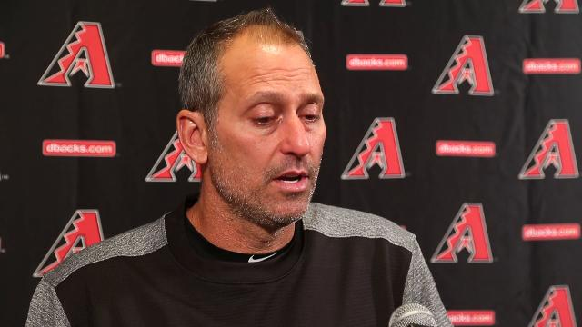 Diamondbacks manager Torey Lovullo gives an update on right-hander Shelby Miller, who is coming off Tommy John surgery. Michael Chow/azcentral.com
