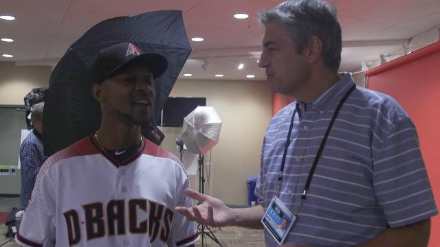 Arizona Diamondbacks outfielder Jarrod Dyson goes by @mrzoombiya on Twitter; he stopped long enough to explain the origin to azncentral sports' Jay Dieffenbach on Tuesday.