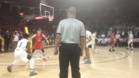 Deer Valley's Jaret Allen hits a go-ahead 3 with 11 seconds left in overtime to beat Paradise Valley in the 5A high school boys basketball semifinals on Tuesday.
