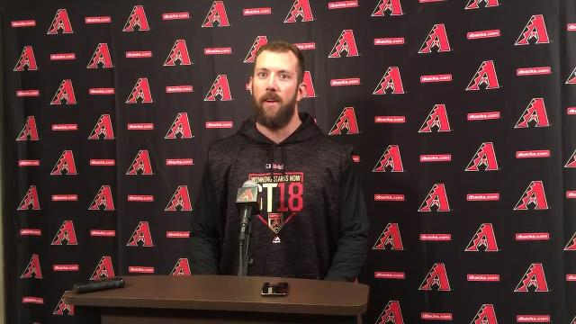 Steven Souza on his first day at D-Backs' camp