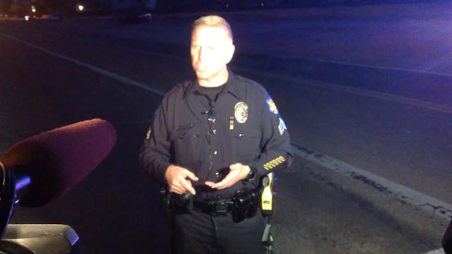 Phoenix police Sgt. Jonathan Howard discusses an officer-involved shooting that occurred on Feb. 22, 2017. A man was shot and killed after he was found trespassing at a vacant home while armed with a handgun. azcentral.com