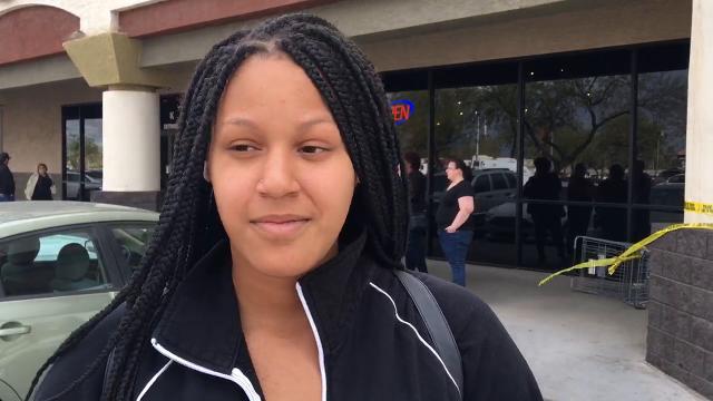 Rachel Ellis, student at Westview High School in Avondale shared her experience with the school's lockdown. Victor Ren/azcentral
