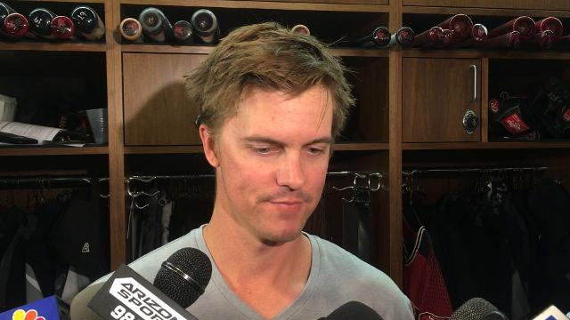 Zack Greinke on his first outing of spring training
