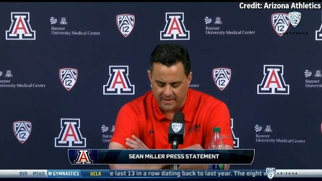 Arizona basketball coach Sean Miller met with the media Thursday to decry an ESPN report that linked him with potential payments to a recruit.