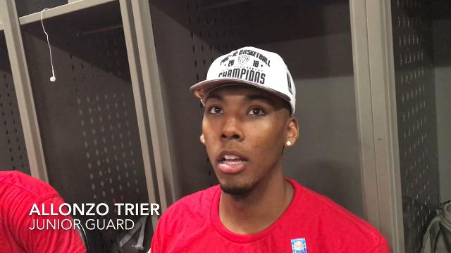 Allonzo Trier, Rawle Alkins react to their Pac-12 championship win over USC.