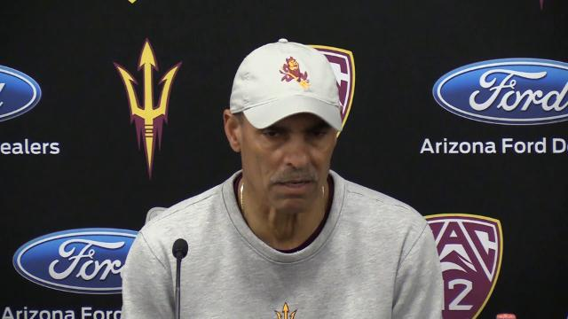ASU football coach Herm Edwards comments after his first spring football workout