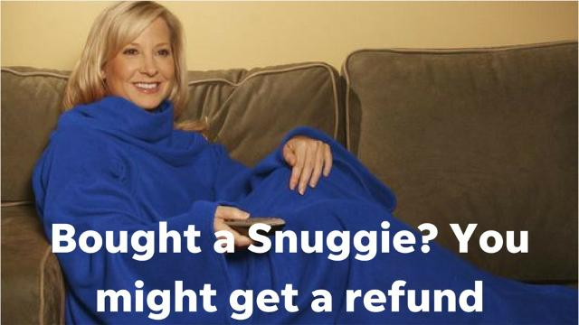 """The company responsible for the Snuggie, will pay more than $7.2 million to consumers who bought """"As Seen On TV"""" merchandise after they were sued for having allegedly misleading advertising."""
