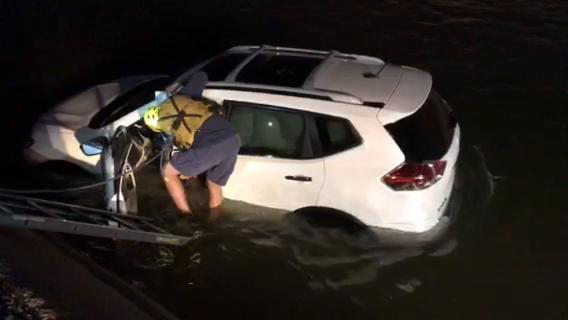 Phoenix Fire Department rescued a senior from a canal on 32nd Street south of Lincoln Drive in Paradise Valley early March 14, 2018.