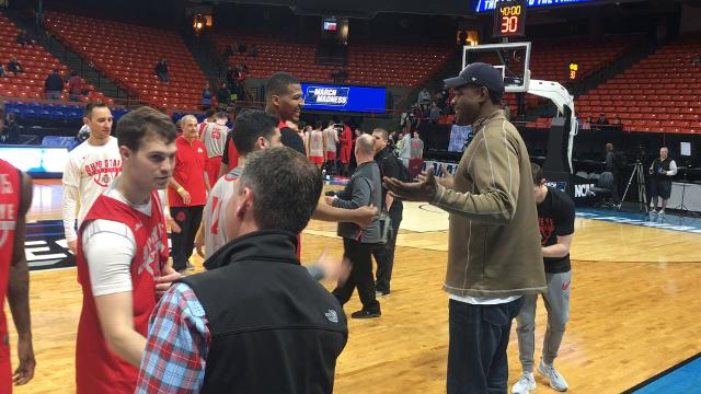 Chris Webber is probably going to hear it from University of Michigan diehards after what he did Wednesday at Taco Bell Arena in Boise, Idaho, ahead of first-round NCAA Tournament play.
