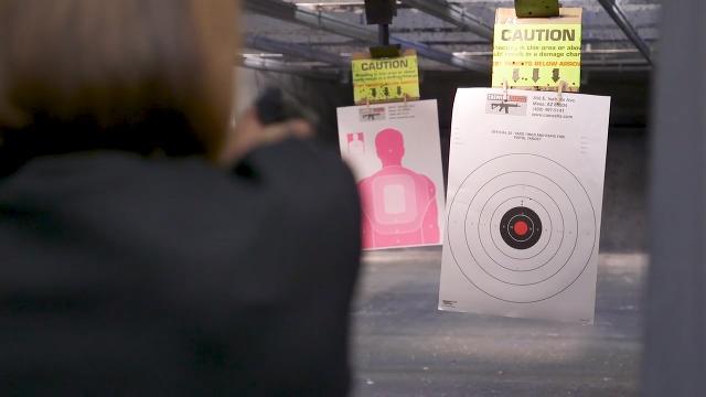 Three Arizona teachers take a gun-safety class, share ideas and fire weapons at Caswells Shooting Range in Mesa. Thomas Hawthorne and Sean Logan/azcentral.com