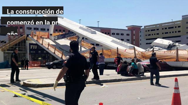 Varias personas murieron en Miami al derrumbarse un puente para peatones recién instalado sobre una calle, y que conectaba edificios de viviendas de estudiantes con el campus de la Universidad Internacional de Florida.