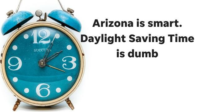 If you hate Daylight Saving Time as much as azcentral columnist Joanna Allhands does, there's a bill in the U.S. Senate to stop all that needless clock changing.
