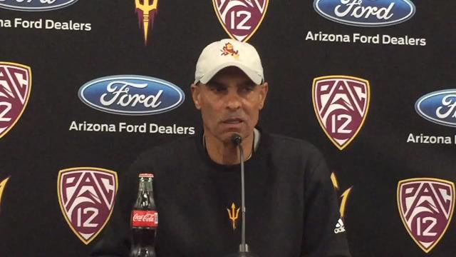 ASU coach Herm Edwards on the Sun Devils' first week of spring practice and Edwards' flight with the Blue Angels.