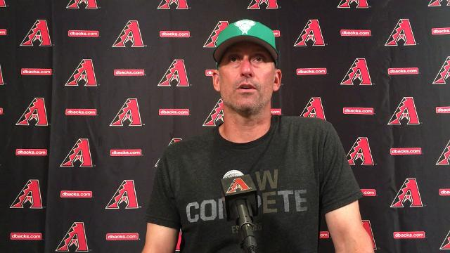 Diamondbacks manager Torey Lovullo provides an update on Zack Greinke, who remains unlikely to pitch on Opening Day but could be back soon after.