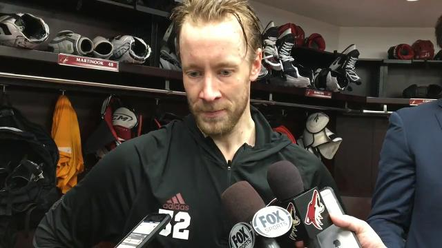 Antti Raanta on Coyotes' loss to Wild