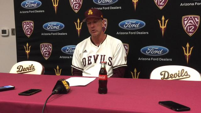 "ASU coach Tracy Smith on the Sun Devils' sweep of Oregon this weekend: ""This is us."""