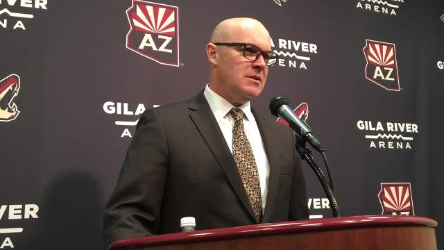 Coyotes interim head coach John MacLean discusses his team's win over the Flames on Monday.
