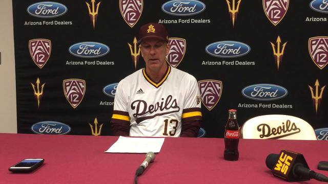 "ASU coach Tracy Smith says Sun Devils fail to play ""mature baseball"" after a loss to UNLV on Tuesday."