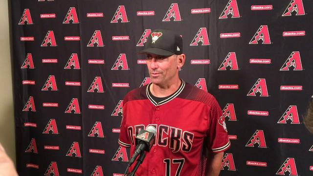 Diamondbacks manager Lovullo on Souza injury