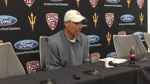 Arizona State head coach Herm Edwards' comments after ASU spring practice No. 5 Thursday