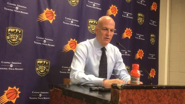 Interim coach Jay Triano discusses his team's loss – the Suns' 12th in a row – to the Celtics on Tuesday.