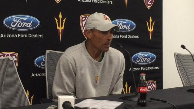 ASU coach Herm Edwards talks about the competitiveness he's seeing at ASU's spring practices on Tuesday.