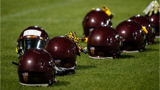 A look at the first spring football session for new coach Herm Edwards at Arizona State.