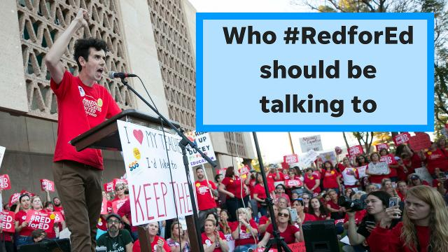 #RedforEd is on the right track with its list of demands for education, columnist Joanna Allhands says. It's just talking to the wrong people about them.