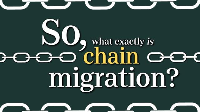 "What is so-called ""chain migration""? Here is a brief explanation. Isabel Greenblatt/The Republic"