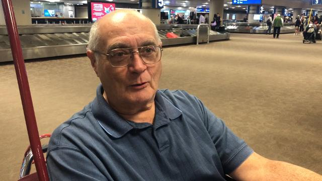 Bill Work talks about his experience on Southwest Flight 577 from Nashville to Phoenix. The plane had to make an emergency landing after a bird strike April 18, 2018.