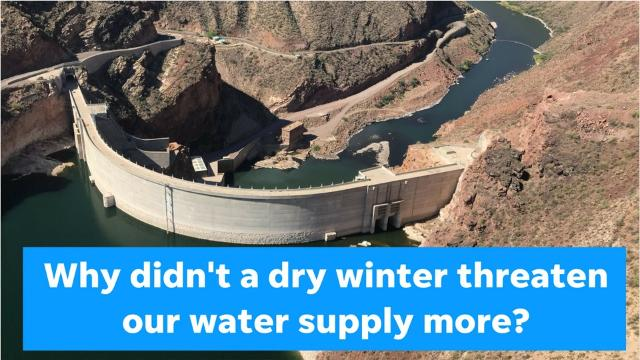 Why didn't a dry winter threaten Phoenix's water supply?