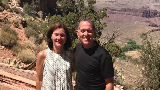 This couple hiked the Grand Canyon for 15 years and then opted to marry on Bright Angel Trail. So romantic.