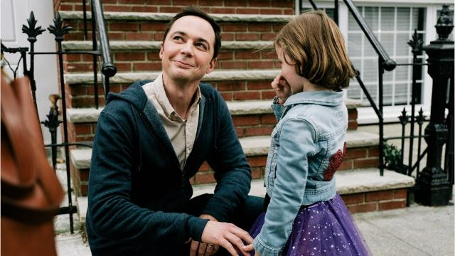 Parents (Claire Danes and Jim Parsons) decide to increase their son's chances of getting into kindergarten by emphasizing questions about his gender identity.