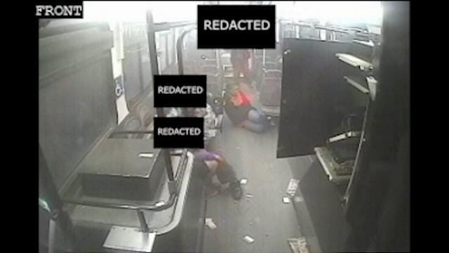 At least six people were injured when a bus in Detroit crashed last month. Surveillance video shows the crash from a variety of angles. (June 27)