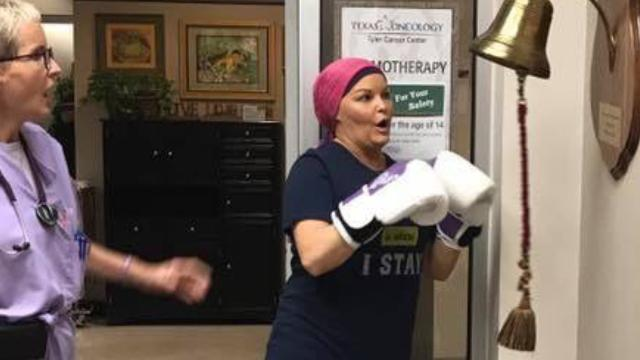She celebrated the end of chemo in the best way