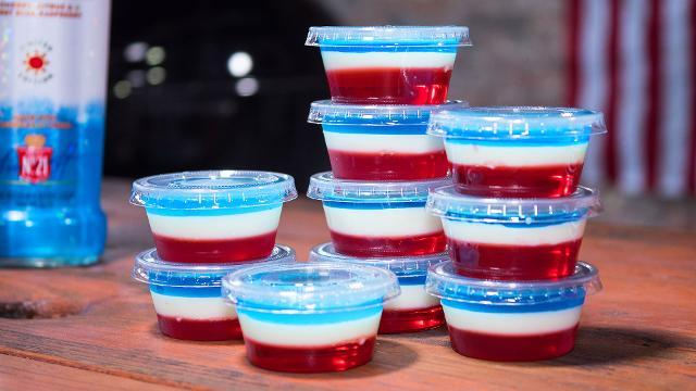 These all-American Jell-O shots are perfect for any 4th of July party