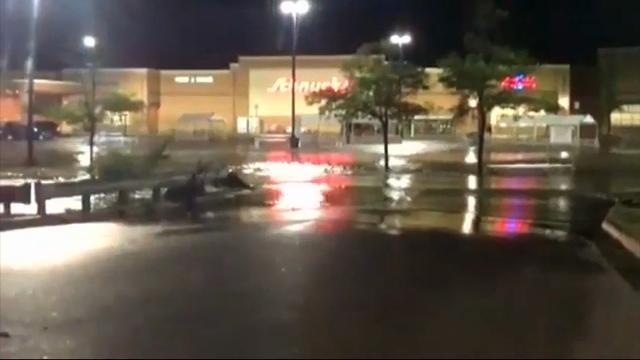 Raw: Heavy Flooding in Northern Illinois