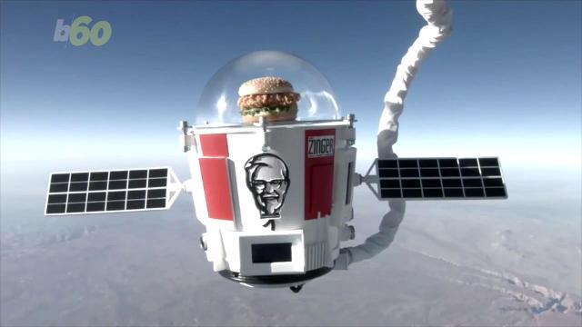 KFC's space sandwich returns to earth proving they know fast food