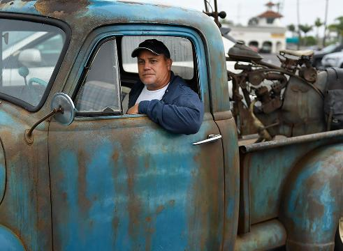 USA TODAY's Chris Woodyard searches Southern California for interesting, unusual and cool rides. At a car show in Huntington Beach he discovered an old rusted out pickup truck. Or is it?
