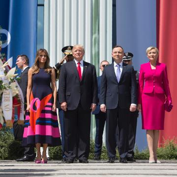 Did Poland's First Lady just snub President Trump?
