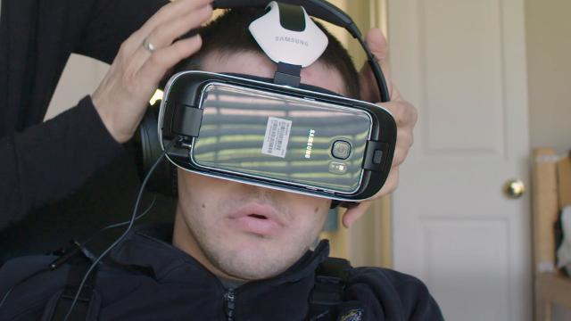 Virtual reality opens new worlds to a man with cerebral palsy