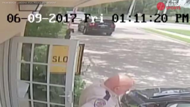 Surveillance footage from Palm Beach Gardens (Fla.) police shows the tennis star rightfully proceeded into the intersection before last month's deadly car accident.